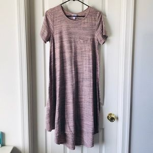 Pink/Gray Heather Carly Dress